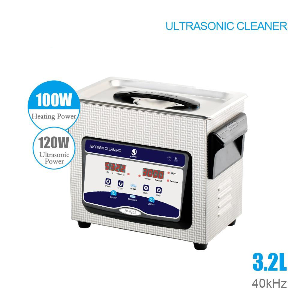 Ultrasonic cleaner bath digital 3.2l 120w 40khz commercial component hospital medical equipment /devices cleaning