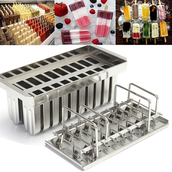 Popsicle molds stainless steel 20pcs ice cream stick holder home diy pop lolly
