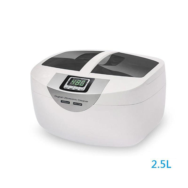 Ultrasonic cleaner jewelry watches instrument of manicure nail cleaner 2.5l 60w 40khz heating bath