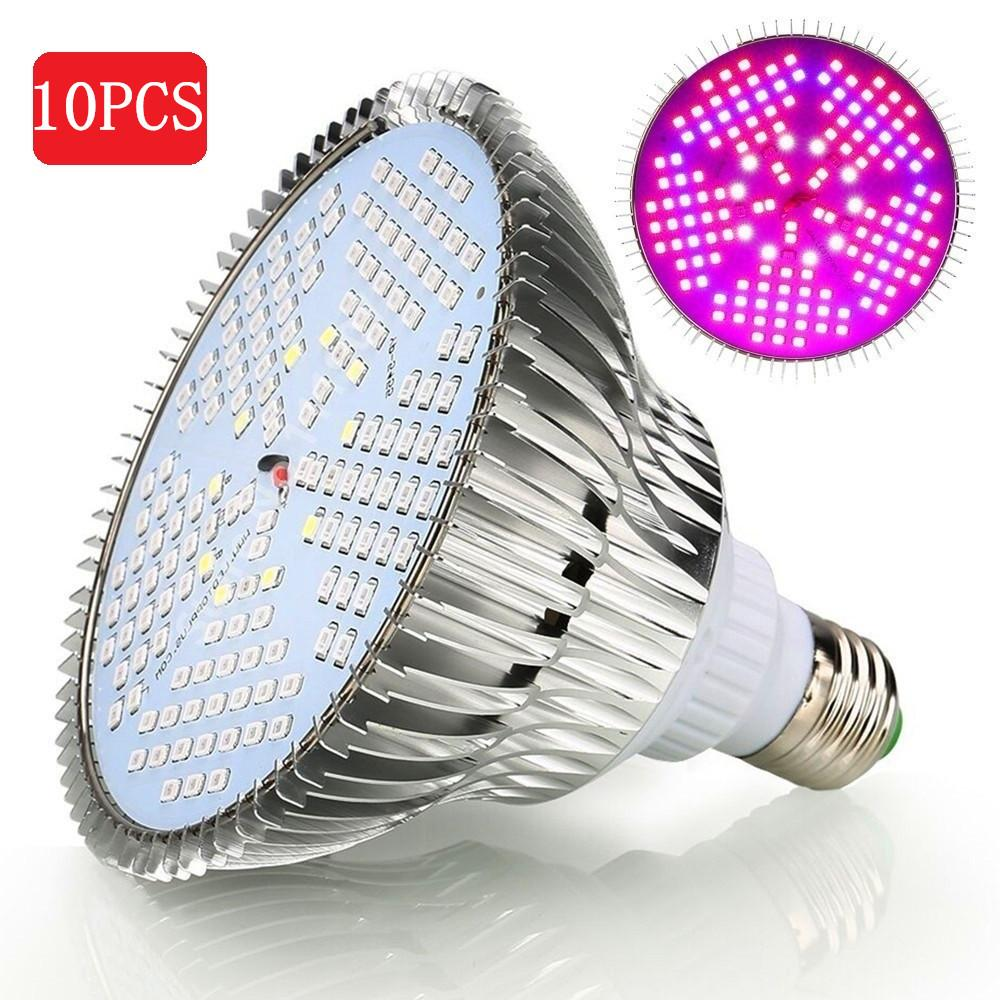 LED grow light 10pcs/pack 150 100w full spectrum ac85~265v e27 plant lamp for indoor garden growth flowering hydroponics
