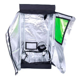 Hydroponic plant growing tent dismountable 60*120cm with window garden home use