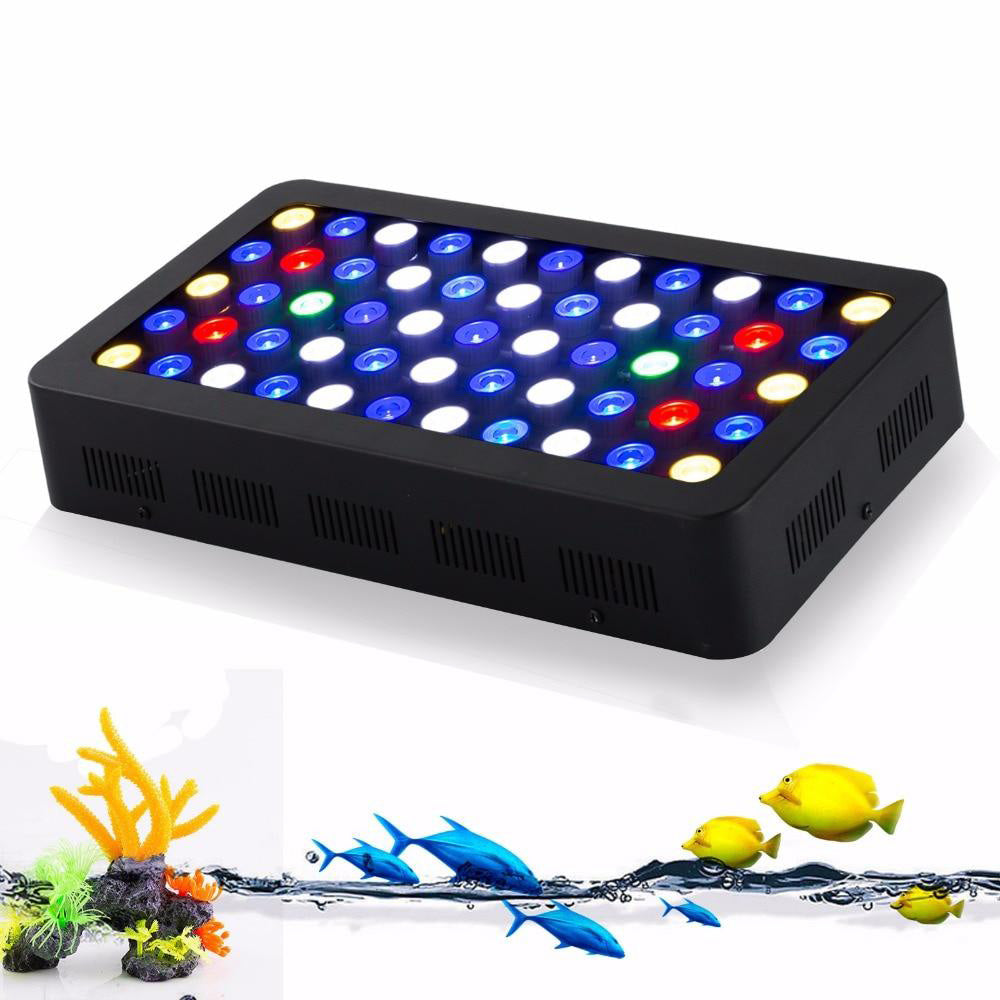 LED aquarium light 2pc/lot dimmable 165w high power for coral reef fish