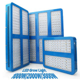 Full spectrum LED grow light 1000w 2000w 3000w panel growth for plants hydroponics seedlings vegs tent greenhouse