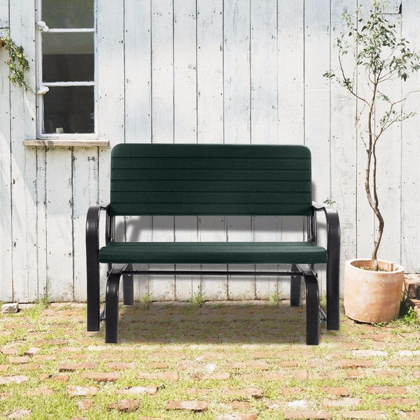 Patio swing outdoor porch rocker glider bench loveseat garden seat steel op2970