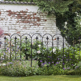Garden fence 10ft x 32in folding decorative set of 5 coated metal panels