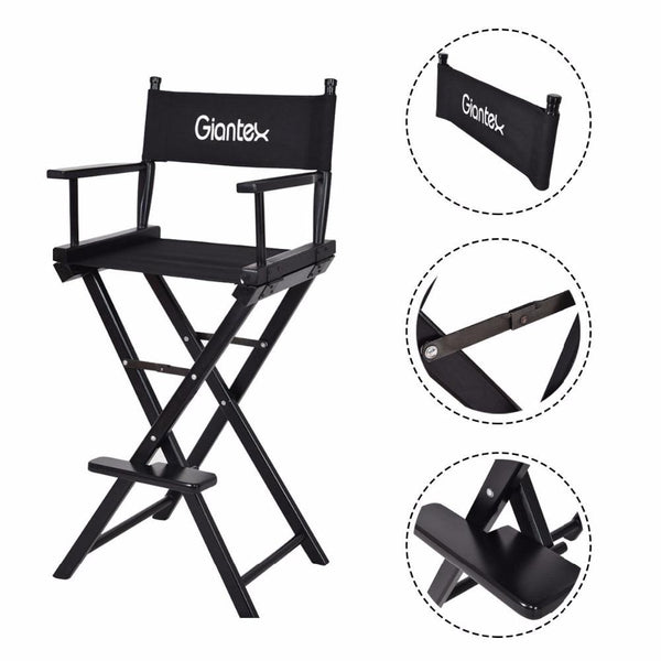 Folding chair wooden makeup director artist beech wood portable professional