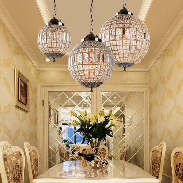 Crystal chandelier modern retro vintage royal empire ball style big LED lampe27 for living room bedroom bathroom