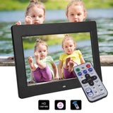 "Movie player home digital photo frame picture 10"""" ultrathin professional hd tft-lcd  mp3 mp4  with remote control us plug decor"