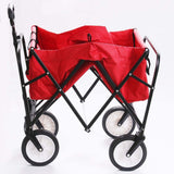 Utility wagon outdoor folding collapsible garden beach shopping camping cart with storage basket trolley carts