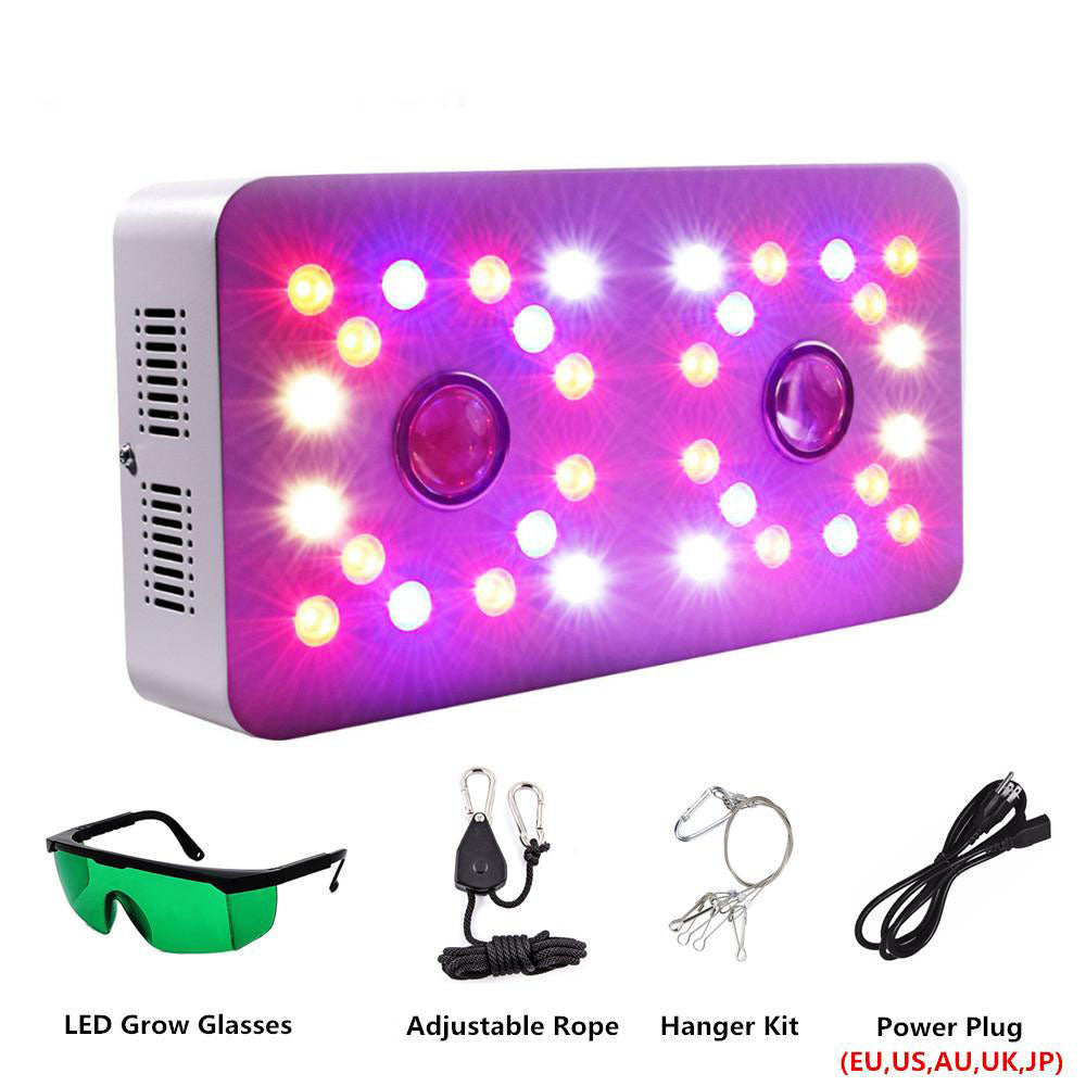LED grow light full spectrum double switch dimmable sun ii 1000w cob chips 410-730nm for indoor plants flower