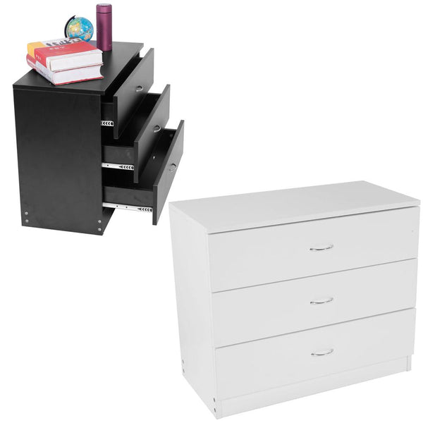 Dresser mdf wood simple 3 drawers bedside cabinet night table