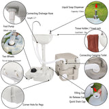 Sink faucet set with toilet chh-7701 1020t portable removable outdoor hand bathroom basin washbasin chrome mixer