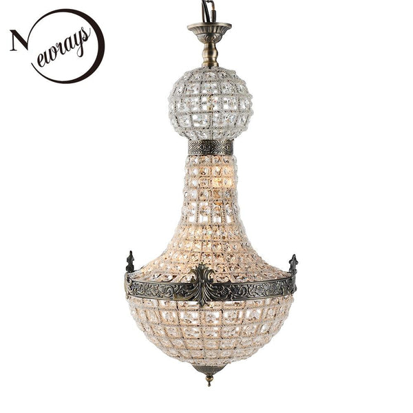 Royal chandelier vintage loft europe retro glass crystal led modern lamp lights g9 for living room bedroom restaurant