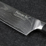 "Damascus knife set 2pcs japanese vg10 steel 8"""" chef 5"""" utility kitchen slicing meat cutter g10 sanding handle"