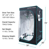 LED grow tent 1680d  3'3''x3'3''x5'11''(100x100x180cm) indoor garden hydroponic system plant greenhouse