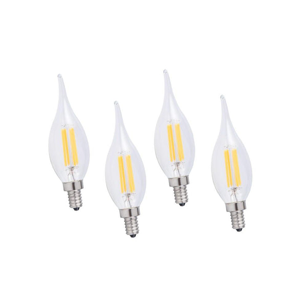LED candle bulb light lamp 50 pack 4w with e12 base replace energy-saving 2700 k