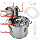 Home distiller 2gal/10l moonshine alcohol stainless copper diy water wine essential oil brewing kit