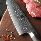 Kitchen knives set 5pcs japanese damascus stainless steel cleaver nakiri chef pakkawood handle