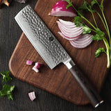 "Cleaver knife 6.8"""" inch japanese damascus steel vg10 kitchen chinese chef's pakka wood handle"