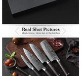 Kitchen knives set 5pcs japanese damascus stainless steel sharp razor cleaver chef pakka wood handle