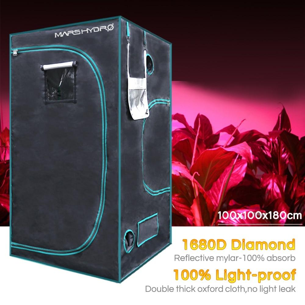 Hydroponics grow tent LED 1680d mars indoor 100*100*180cm grow kit growing system