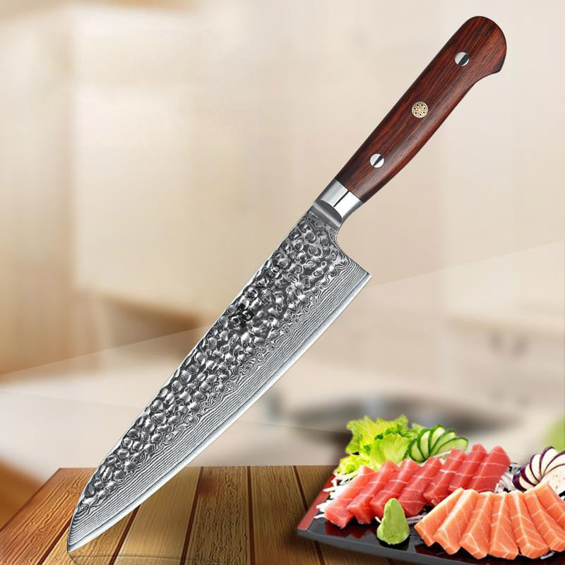 "Chef knife 8.5"""" inch 67 layer damascus stainless steel sharp kitchen newarrive santoku vg10 gyuto rosewood handle"