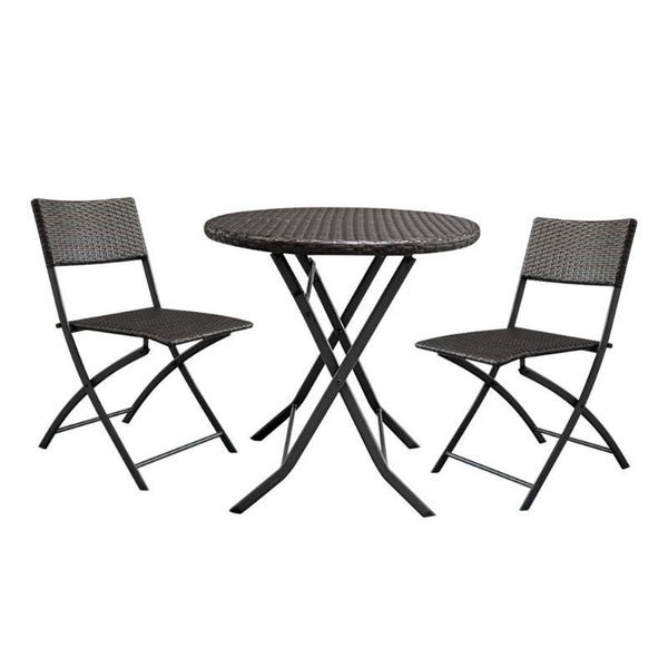 Foldable furniture set 3pcs/set home garden table gradient rattan coffee with 2pcs chairs househoud decoration
