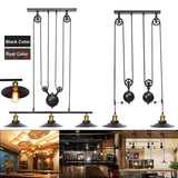 Industrial lamp fixture vintage hanging retractable pulley pendant light holder fit for e27 bulb ac110-240v