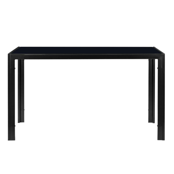 Dinner table simple assembled tempered glass iron