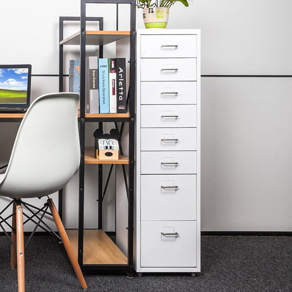 Filing cabinet living room bedroom metal drawer detachable mobile 8 drawers 4 casters office