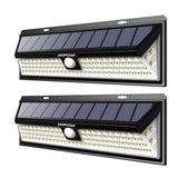 LED solar lights 2 pack 102 for mpow super bright waterproof wall lamp pir motion sensor outdoor security