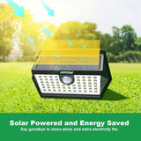 LED solar wall lights 4 pack mpow 63 outdoor garden sensitive pir motion inductor 270 angle sensor head waterproof