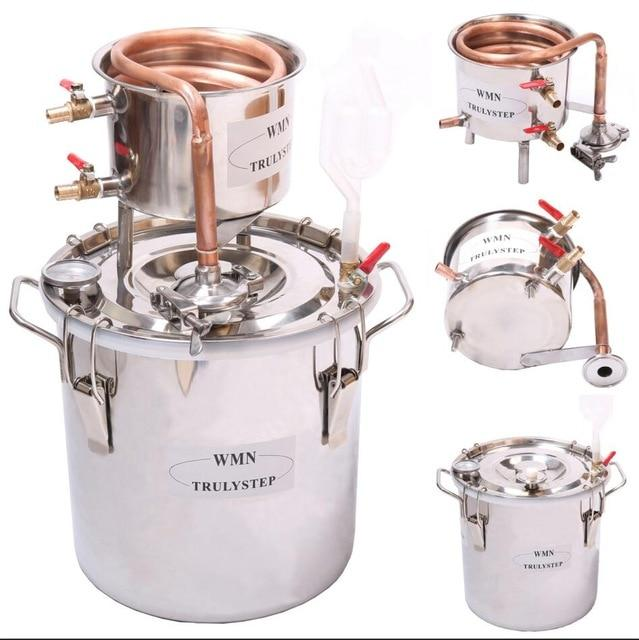 Brewing kit 10L~100L DIY home brew distiller alambic moonshine alcohol still stainless copper water wine essential oil