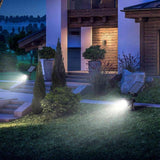LED solar light 4 pack mpow 6 garden rechargeable landscape spotlight 180 angle adjustable panel waterproof