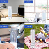 Water bottle ionizer 300ml spe pem hydrogen generator maker energy cup bpa-free healthy anti-aging rechargeable gift