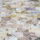 Mosaic tile natural mother of pearl oyster mini brick shell for bathroom kitchen backsplash