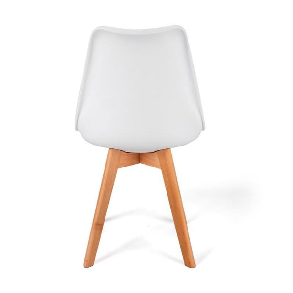 Dining chair modern home plastic backrest computer student creative solid wood