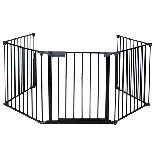 Fireplace safety guard five pieces of wrought iron fence durable plastic easy to install