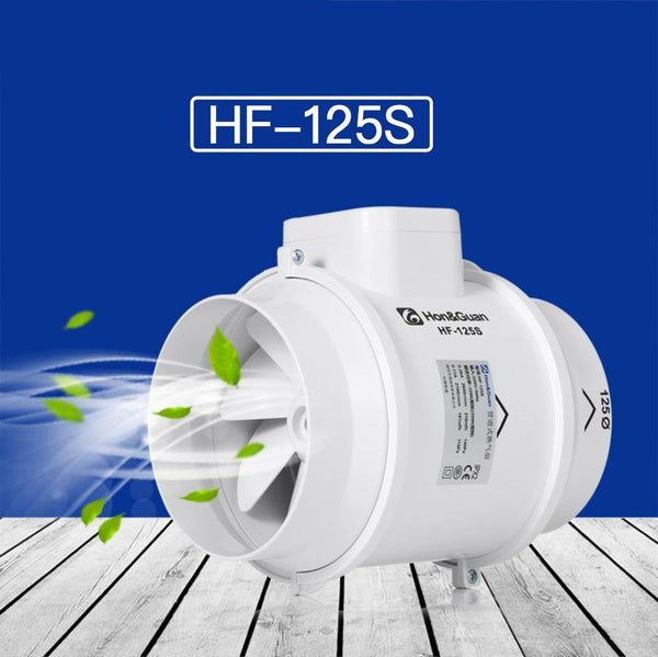 "Fan 5"""" extractor exhaust mixed flow ventilation system air for bathroom kitchen inline duct fan; hf-125s"
