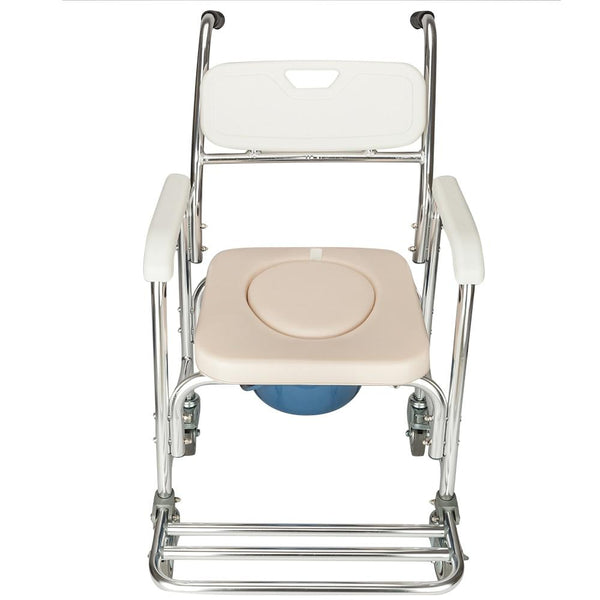 Rolling chair aluminum 4 in 1 for elderly old people handicapped seniors pregnant women bath chairs with wheels
