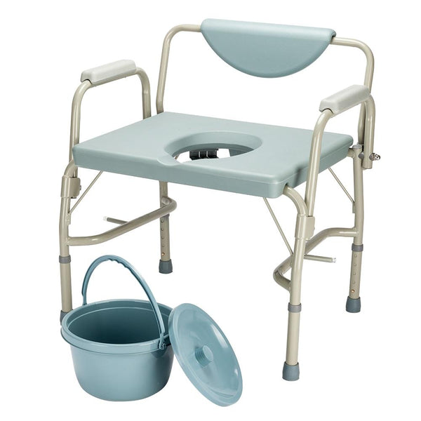 Bariatric drop-arm commode medical