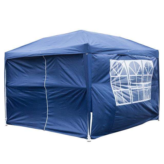 Pop up canopy tent 3 x 3m wedding outdoor waterproof folding patio pavilion gazebo two windows doors