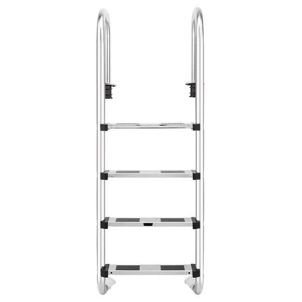 Swimming pool ladder U05 3/4-step stainless steel step with easy mount legs for in ground pools