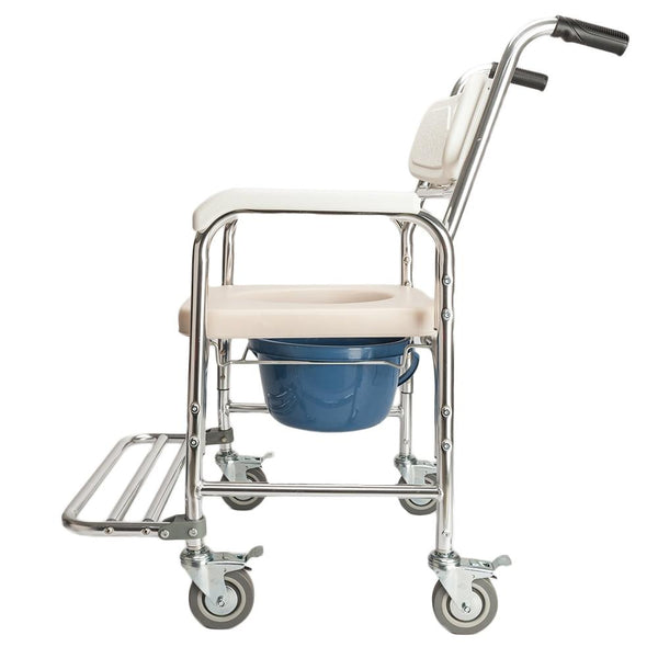 Chair bath 4 in 1 multifunctional aluminum elder people disabled pregnant women commode