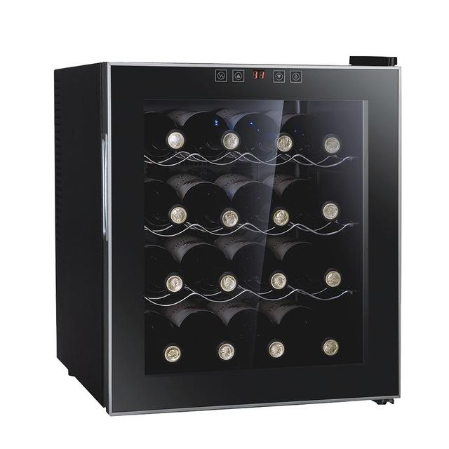 Wine cabinet professional 8/12/16 bottles thermostatic cooler refrigerator air-tight beer drink for commercial/household