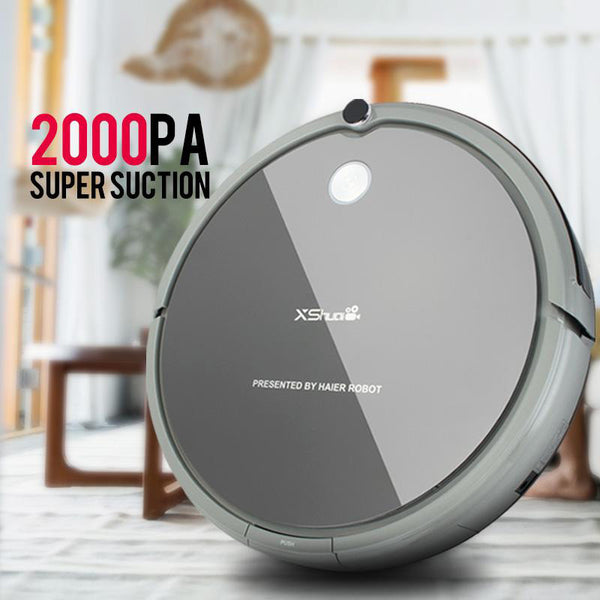 Vacuum cleaner hxs-g1 robot wireless 2000pa super suction auto recharge gyro navigation sweep drag for wood floor carpet