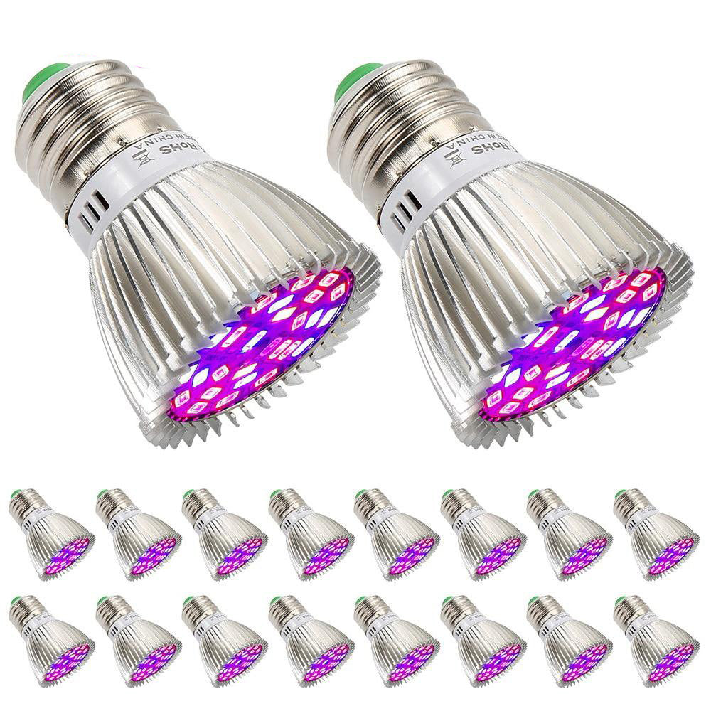 LED grow light full spectrum 20pcs/lot 28w e27 plant growth bulb for indoor garden hydroponics greenhouse flower vegs