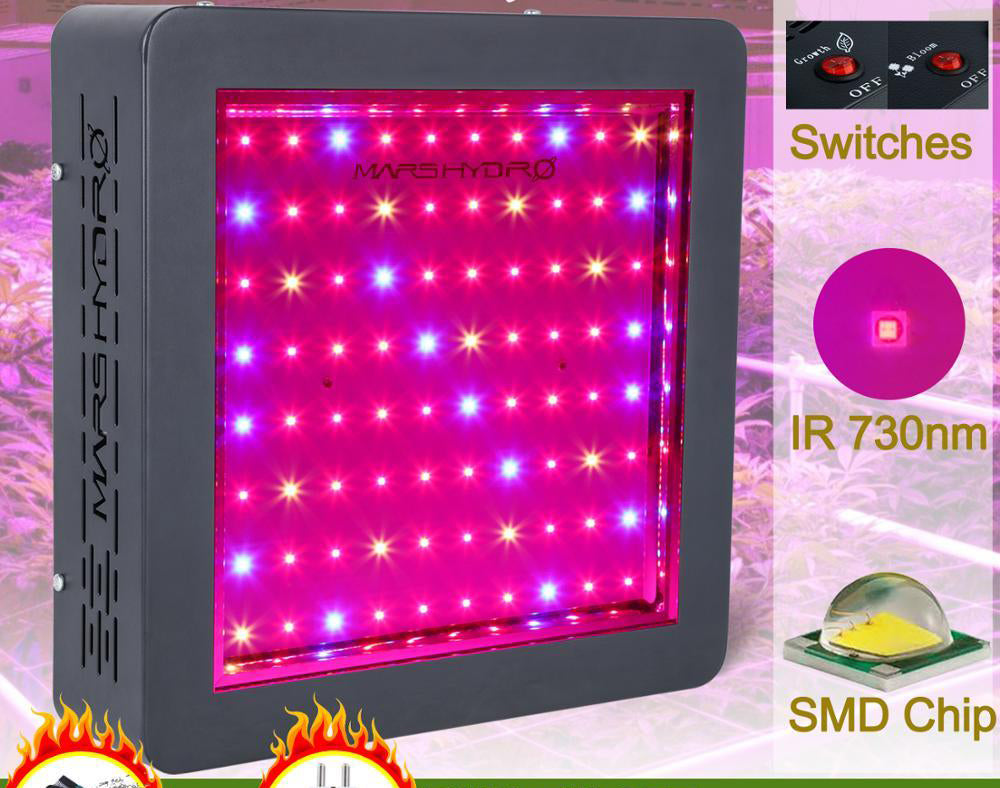 LED grow light hydro ii 400w full spectrum panel hydroponic system for planting vegetables indoor garden