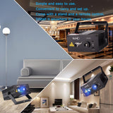 Laser light suny 9 gb patterns blue LED stage sound activated gobo projector show for club bar dj disco home party(z09gb)
