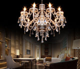 Crystal 10 candle arm chandelier large elegant pendant ceiling lamp